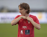 Modric Luka Croatian soccer player Stock Photography