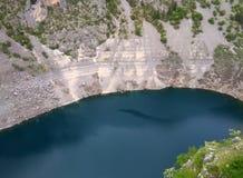 Modro jezero (Blue lake). Lake called Modro jezero (blue lake) near Imotski town in Croatia Stock Photo