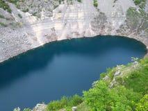 Modro jezero (Blue lake). Lake called Modro jezero (blue lake) near Imotski town in Croatia Royalty Free Stock Photos