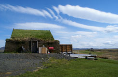 Modrudalur Shed. Turf covered shed in Modrudalur, Iceland Royalty Free Stock Photography