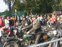 Mods and Rockers at the Goodwood Revival. Royalty Free Stock Photo