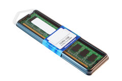 Modul des Speichers DDR2 im Paket Stockfotos