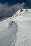 Modulação da neve pelo vento Fotografia de Stock Royalty Free