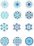 Modulação de cristal de um floco de neve 1. Ilustração do Vetor