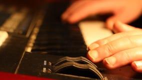 Modulador del teclado de la música almacen de video