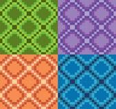 Modulair patroon vector groen purper oranje blauw Stock Afbeelding