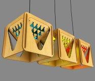 Modulaire ontwerperlamp 3D Illustratie Royalty-vrije Stock Foto's