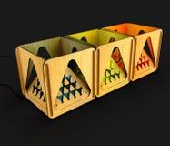Modulaire ontwerperlamp 3D Illustratie Stock Foto