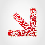 Modular arrow2 Royalty Free Stock Photo