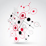 Modular Bauhaus 3d Vector Red Background, Created Stock Photography