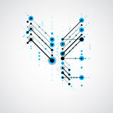 Modular Bauhaus blue vector background, created from simple geom Royalty Free Stock Image