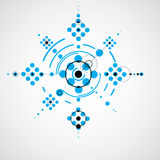 Modular Bauhaus blue vector background, created from simple geom Stock Images