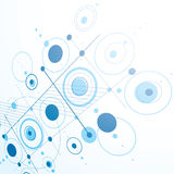 Modular Bauhaus 3d vector blue background, created from simple g Stock Image