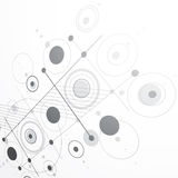 Modular Bauhaus 3d vector grayscale background, created from sim Royalty Free Stock Photo