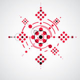 Modular Bauhaus red vector background, created from simple geome Royalty Free Stock Photo
