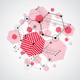 Modular Bauhaus vector background, created from simple geometric Royalty Free Stock Photography