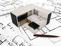 Modular building plan Stock Photos