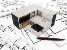 Modular building plan Stock Photos