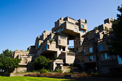 Modular buildings of Habitat 67 in Montreal, Canada Royalty Free Stock Photography