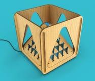 Modular designer lamp. 3D illustration. Modular designer lamp. Art object. 3D illustration royalty free illustration
