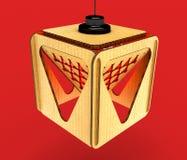 Modular designer lamp. 3D illustration. Modular designer lamp. Art object. 3D illustration stock illustration