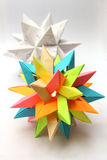 Modular origam paper stars Stock Photos