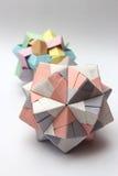 Modular origami balls Royalty Free Stock Photo