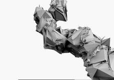Modular polygonal structures. Layered modular molecular polygonal structures vector illustration