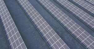 Modular solar power plant for generating electricity. Drone video