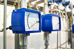 Modular variable area flowmeter Royalty Free Stock Images