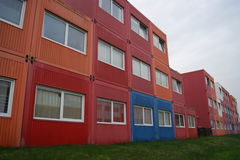 Modulare Häuser Stockfotos