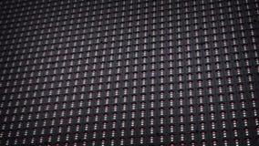 Modulare LED-Platten im Freien auf dem Stadium stock video
