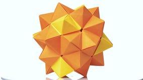 Modularna origami postać na białym tle royalty ilustracja