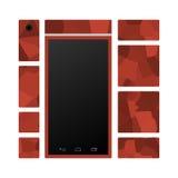 Modularny mądrze telefonu przód z różny modułów odpłacać się Obrazy Stock