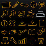 Modulate icons database (vecto. Database icon set; modulate (vector). Original editable shapes in AI CS2 file stock illustration