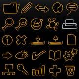 Modulate icons database (vecto. Database icon set; modulate (vector). Original editable shapes in AI CS2 file Stock Image