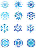 Modulazione di cristallo di un fiocco di neve 1. illustrazione vettoriale