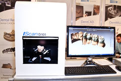Module de balayage 3d de non contact et un modèle des dents Images libres de droits