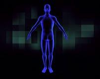 module de balayage de l'être humain 3d illustration libre de droits