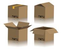 Module de boîte en carton Photos libres de droits