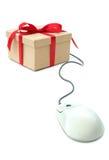 Module de cadeau lié à la souris d'ordinateur Photographie stock