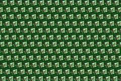 Module de cadeau sur le fond vert Photo libre de droits