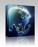 Module de cadre de l'Asia Pacific de globe Photos libres de droits