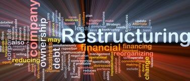 Module de cadre de nuage de mot de restructuration Images stock