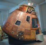 Module de command 1969 d'Apollo 10 dans le musée de la Science images libres de droits