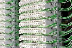 Modules de connexion avec des fils de cavalier Photo stock