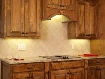 Modules de cuisine de luxe d'érable de maison modèle 2 Photo libre de droits