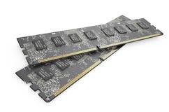 Modules 6 de la mémoire DDR3 Images stock