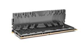 Modules de mémoire du Ram DDR4 d'isolement sur un fond blanc photos libres de droits
