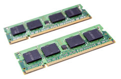 Modules de RAM d'isolement photographie stock libre de droits